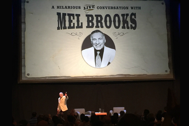 Mel Brooks spoke about his time growing up in Williamsburg during a Q&A at the Chicago Theatre on Sunday, June 13, 2016.