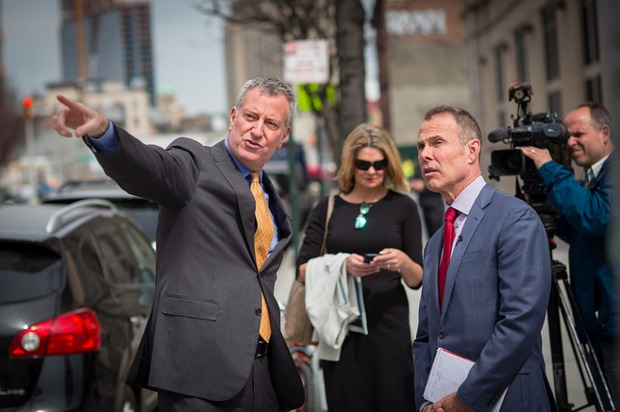 Mayor Bill de Blasio's departing press secretary said he needs to develop a thicker skin and that a problem with