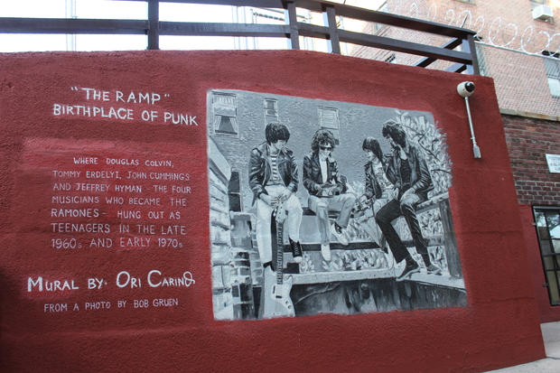 The Ramones Mural by Ori Carino at Thorneycroft Ramp in Forest Hills.