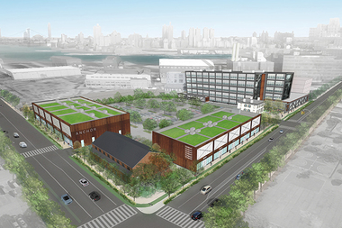 The city's first Wegmans is coming to Admiral's Row at the Brooklyn Navy Yard.
