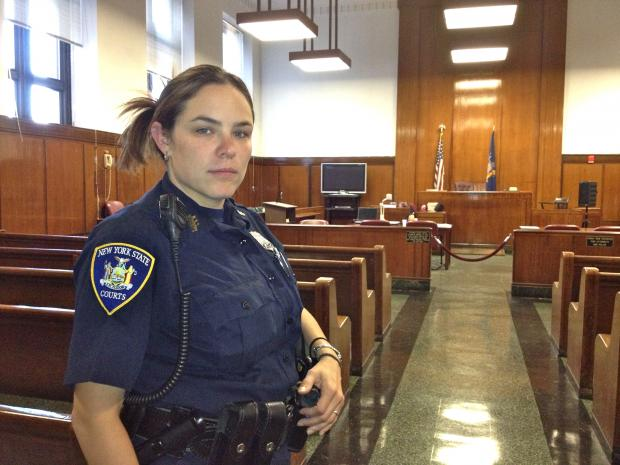 Manhattan Supreme Court officer Devin Accetta had her Staten Island home flooded during Hurricane Sandy.