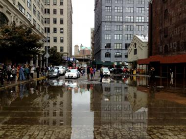 October 30, 2012 - DUMBO was sumerged Monday night during Sandy.
