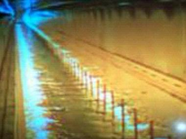 Gov. Andrew Cuomo tweeted out a photo of water inside the Hugh L. Carey Brooklyn-Battery Tunnel on Monday, Oct. 29, 2012. The tunnel was shut down in advance of Hurricane Sandy.