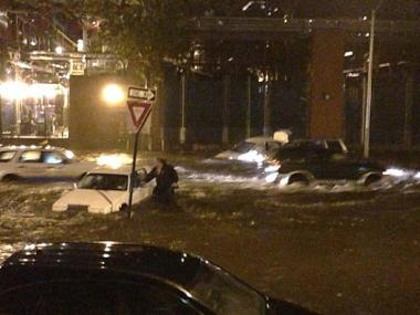 Hurricane Sandy left parts of Manhattan submerged on Monday, Oct. 29, 2012.