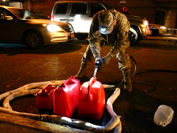 November 4, 2012- The National Guard provided free gas at the Armory in Crown Heights Saturdsy night.