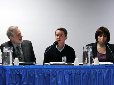 State Assembly Member Dick Gottfried and State Sen. Daniel Squadron hosted a public forum Oct. 24, 2012 on the Gender Expression Non-Discrimination Act, which legislators will likely try in 2013 to bring to a vote in the State Senate.