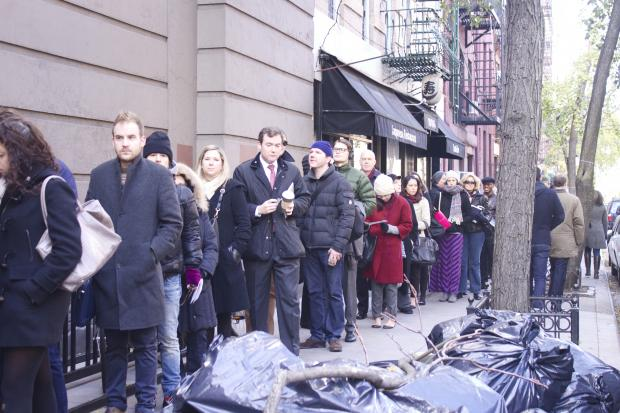 Heavy turn out and broken machines meant long lines at local polling sites in Greenwich Village.