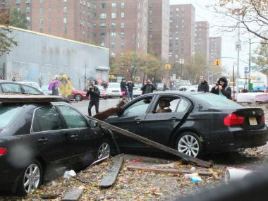 Some residents of Zone A regretted not leaving as Hurricane Sandy wreaked havoc along the East River.