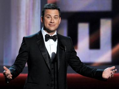 SEPTEMBER 23: Host Jimmy Kimmel speaks onstage during the 64th Annual Primetime Emmy Awards at Nokia Theatre L.A. Live on September 23, 2012 in Los Angeles, California.