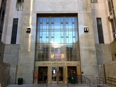 Manhattan Criminal Courthouse. Mayor Bloomberg announced a mental health initiative that will enable the city to offer more support to mentally ill criminals, on Dec. 23, 2012.