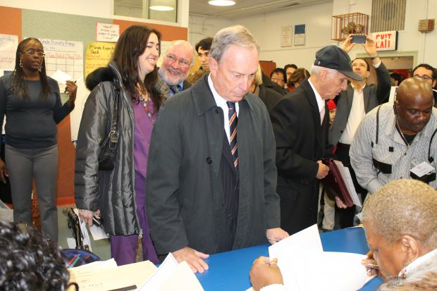 Mayor Michael Bloomberg voted on Nov. 6, 2011