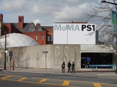 MoMA PS1 offers place to rest and charge cell phones.