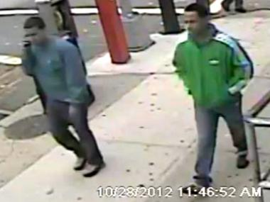 Cops are looking for two robbery suspects.