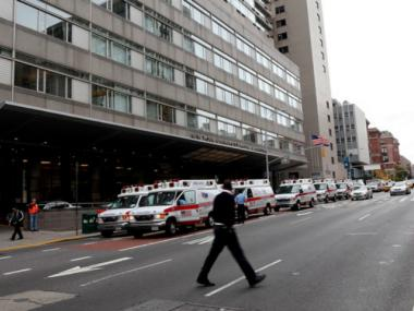 A man suffered electrical burns Thursday afternoon near NYU Langone Medical Center.