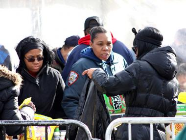 Federal and local agencies chipped in to help residents from Coney Island recover in the aftermath of Hurricane Sandy.