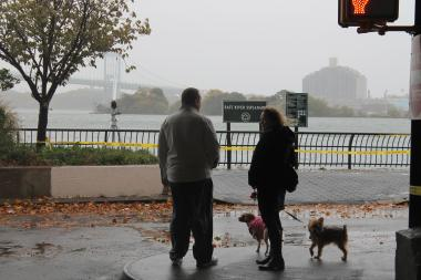 People around the city watched as Hurricane Sandy came closer, ignoring calls from police to get inside to safety.