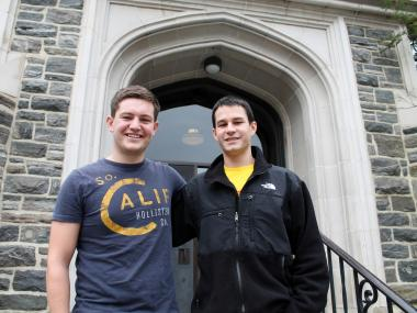 Two enterprising Fordham University business students rent air mattresses, Swiffers and laser lights to their fellow coeds.