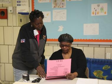 Problems voting at P.S. 36 on 122nd Street and Amsterdam