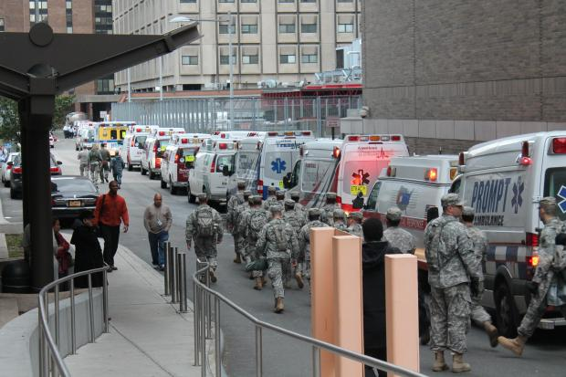 Bellevue Hospital Center was evacuated following Hurricane Sandy Oct. 31, 2012.
