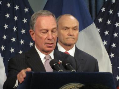 Mayor Michael Bloomberg and Police Commissioner Ray Kelly appeared at a press conference on Oct. 7 addressing gun violence.