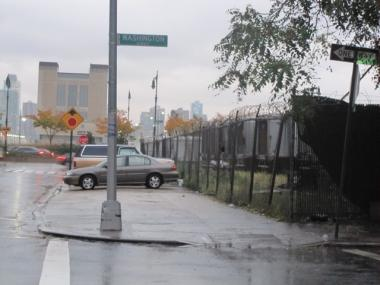 The site of the proposed three-district sanitation garage.