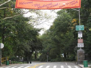 Ft. Tryon Park in Washington Heights is the site of the annual Medieval Festival, which is expected to attract more than 60,000 on Sunday.