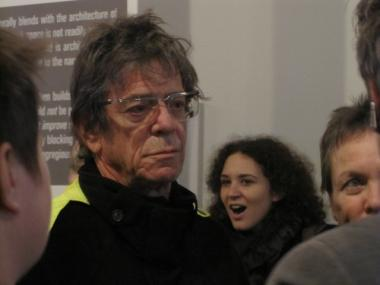 The Velvet Underground's Lou Reed was one of a group of celebrities who supported Hudson Rise, an alternative to a city-proposed sanitation garage.