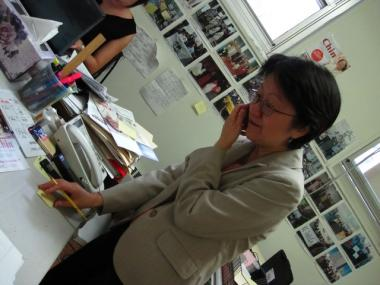 On the photo taken on Nov. 2, 2009, Margaret Chin makes plans before election day in her campaign office in Chinatown. Chin is the first Asian-American woman on City Council and the first Chinese-American on City Council to represent Chinatown.