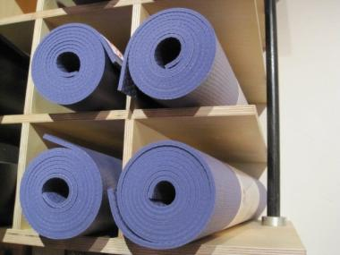Manuka yoga mats sell for $74 each at Kula Yoga Project, where 30 of them have been stolen.