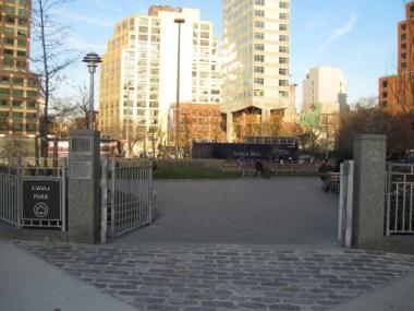The park was built in part through donations from the Tribeca Film Festival.