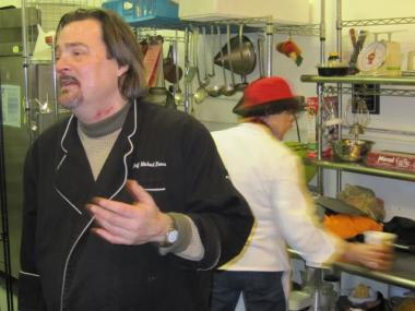 Chef Michael Ennes in his soup kitchen at Broadway Community Inc. Morningside Heights, Dec. 29, 2009.