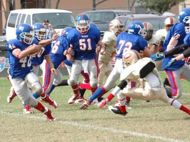 Manhattan's Downtown Giants beat the Third Ward 49ers from Houston during Game One of the American Youth Football National Championships, Nov. 7, 2009.