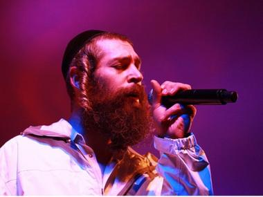 Hasidic Rapper Matisyahu performs.