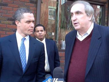 Harold Ford Jr. and Assemblyman Vito Lopez. Jan. 22, 2010