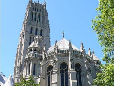 Riverside Church in Morningside Heights, where civil rights icon Percy Sutton will be laid to rest Wednesday.