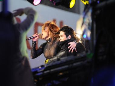 J-Lo performed in a sequined fleshtone bodysuit, thrilling New Years Eve crowds in Times Square.