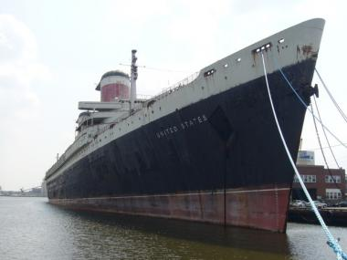 The SS United States is currently docked in Philadelphia.