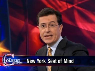 Stephen Colbert took shots at potential New York Senate candidate Harold Ford Jr. last night on his show.