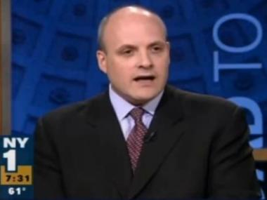 Howard Wolfson on NY1 during Bloomberg's 2009 campaign.