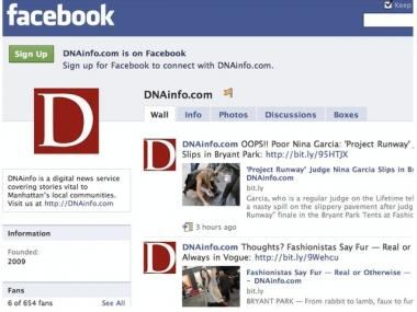 DNAinfo's Facebook Page. Are you a fan yet?