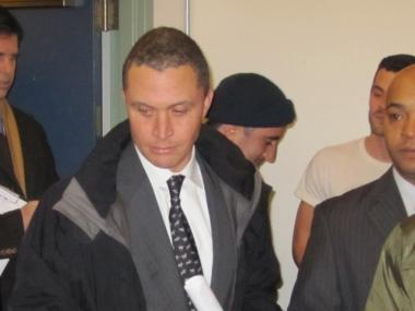 Harold Ford Jr. enters the Stonewall Democratic Club.
