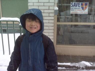 Shuma Saito didn't get the word schools were closed until he arrived at P.S. 41 in Greenwich Village.
