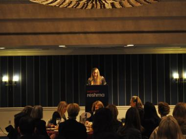 Alexis Maybank, co-founder of the Gilt Groupe, spoke about entrepreneurship at the Women for Reshma fundraiser Monday.