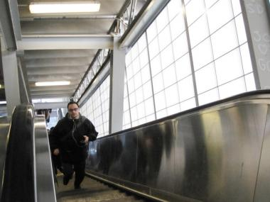 The Vesey Street escalator in Lower Manhattan is now up and running after being broken for nearly six months.