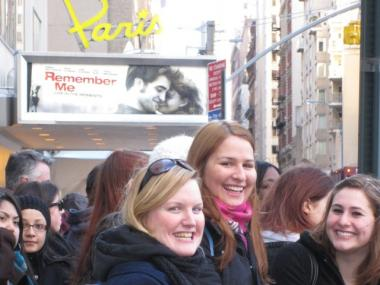Fans lined up outside the Paris Theater on E. 58th Street for hours to catch a glimpse of actor Robert Pattinson.