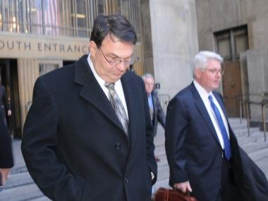 James Lomma leaves Manhattan court after being indicted on manslaughter charges March 8, 2010.