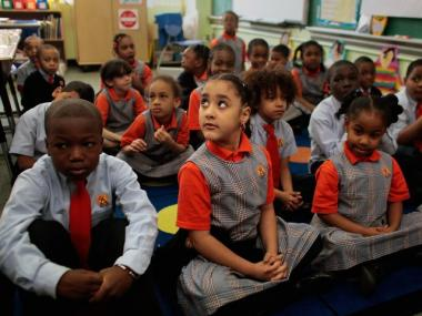 Students at Harlem Success Academy, a charter school in Harlem.