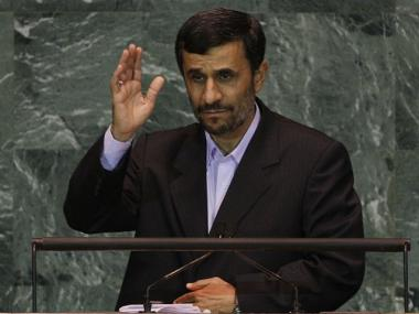 Iranian President Mahmoud Ahmadinejad addresses the United Nations General Assembly at the U.N. headquarters on September 23, 2009.