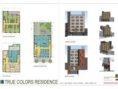 Floor plan of the True Colors Residence, the city's first shelter for homeless LGBT teens.