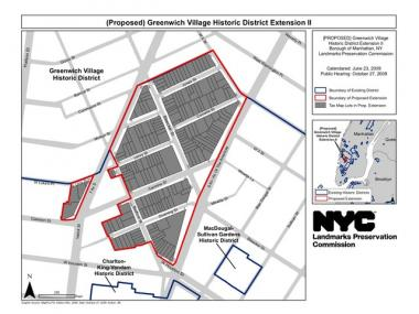 The Landmarks Preservation Commission voted to extend the Greenwich Village Historic District.